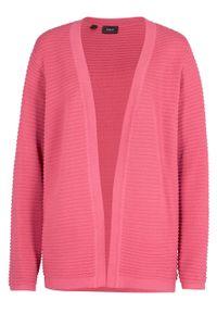 Różowy sweter bonprix w prążki