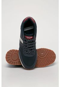 Niebieskie sneakersy U.S. Polo Assn na sznurówki, z cholewką