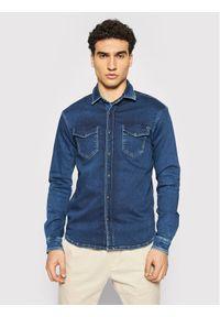 Pepe Jeans Koszula PM307269 Granatowy Regular Fit. Kolor: niebieski