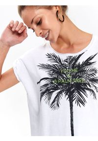 Biały t-shirt DRYWASH