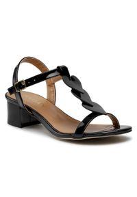 Czarne sandały sagan