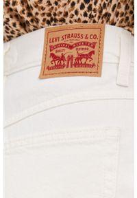 Kremowe szorty Levi's® gładkie, z podwyższonym stanem, na co dzień, biznesowe