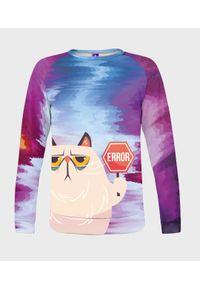 MegaKoszulki - Bluza damska fullprint Error Cat. Długość: długie. Styl: klasyczny