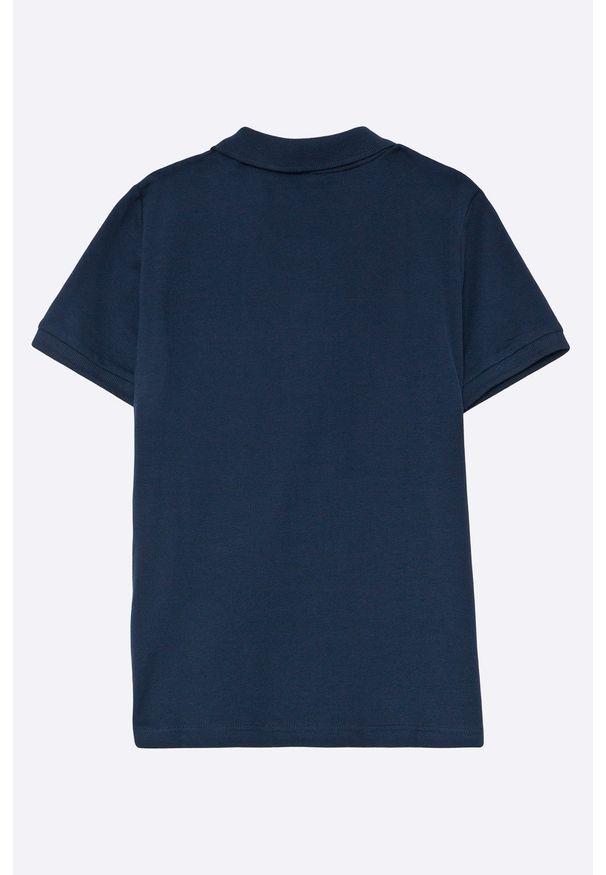 Niebieski t-shirt polo Guess Jeans polo, na co dzień, krótki