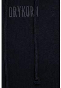 Drykorn - Bluza Ilmie. Typ kołnierza: kaptur. Kolor: czarny. Materiał: dzianina