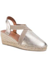 Złote sandały Toni Pons casualowe, na co dzień