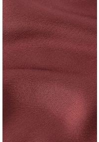IVY & OAK - Bluzka Bea. Okazja: na co dzień. Kolor: brązowy. Materiał: włókno, wiskoza, satyna, materiał. Długość rękawa: długi rękaw. Długość: długie. Wzór: ze splotem. Styl: casual