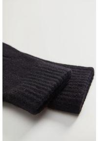 Czarne rękawiczki Mango Man