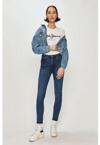Niebieskie jeansy Pepe Jeans gładkie