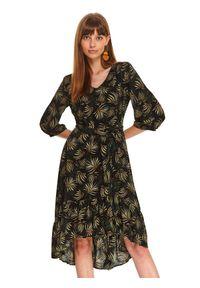 Czarna sukienka TOP SECRET na co dzień, na jesień