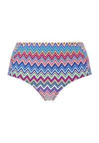 Cellbes Wysokie majtki od bikini we wzory we wzory female ze wzorem 62. Stan: podwyższony