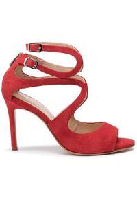 Czerwone sandały Eva Minge