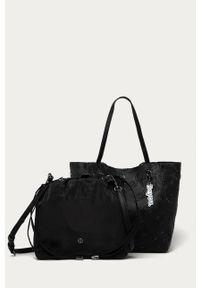 Czarna shopperka Desigual na ramię