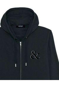 PAPROCKI&BRZOZOWSKI - Czarna bluza z białym logo. Kolor: czarny. Materiał: materiał. Wzór: aplikacja, nadruk
