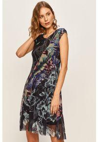 Wielokolorowa sukienka Desigual mini, casualowa