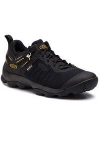 keen - Trekkingi KEEN - Venture Wp 1021173 Black/Keen Yellow. Kolor: czarny. Materiał: materiał. Szerokość cholewki: normalna. Sport: turystyka piesza