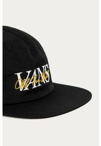 Czarna czapka z daszkiem Vans z nadrukiem