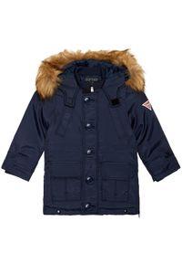 Niebieska kurtka zimowa Guess
