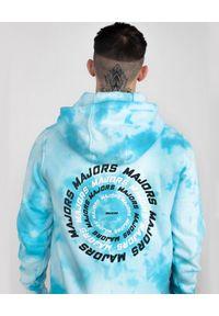 MAJORS - Błękitna bluza z kapturem BLUNTED. Typ kołnierza: kaptur. Kolor: niebieski. Materiał: dresówka, bawełna. Wzór: nadruk