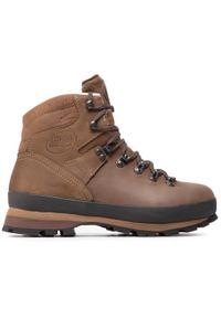 Brązowe buty trekkingowe MEINDL z cholewką, trekkingowe