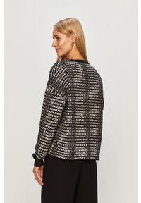 Czarny sweter Armani Exchange z długim rękawem, z okrągłym kołnierzem, długi