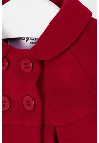 Czerwony płaszcz Mayoral Newborn raglanowy rękaw, bez kaptura