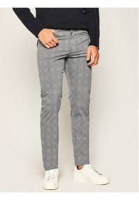 BOSS - Boss Spodnie materiałowe Delaware3-9-20 50425138 Szary Slim Fit. Kolor: szary. Materiał: bawełna, materiał, poliester, elastan
