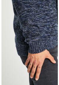 Niebieski sweter rozpinany medicine melanż, casualowy