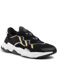 Czarne buty sportowe Adidas na co dzień, z cholewką