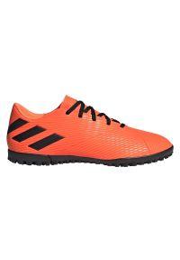 Adidas - Buty piłkarskie turfy adidas Nemeziz 19.4 TF EH0304. Materiał: guma, materiał, syntetyk. Szerokość cholewki: normalna. Sport: piłka nożna