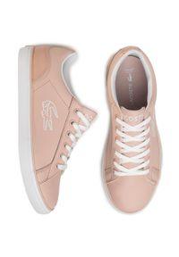 Różowe buty sportowe Lacoste