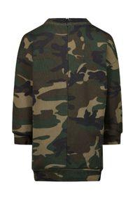 DSQUARED2 KIDS - Sukienka we wzór moro Icon 0-3 lat. Kolor: zielony. Materiał: bawełna. Długość rękawa: długi rękaw. Wzór: moro. Sezon: lato