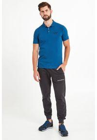 Koszulka polo EA7 Emporio Armani w jednolite wzory, polo