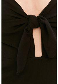 Czarna sukienka Answear Lab prosta, maxi, na ramiączkach