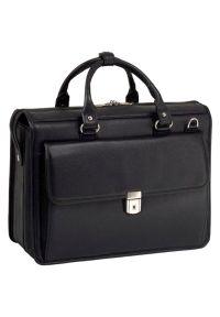 Teczka na laptopa MCKLEIN Gresham 15.6 cali Czarny. Kolor: czarny. Materiał: skóra. Styl: biznesowy, klasyczny