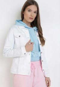 Born2be - Biała Kurtka Jeansowa Jennishell. Kolor: biały. Materiał: jeans