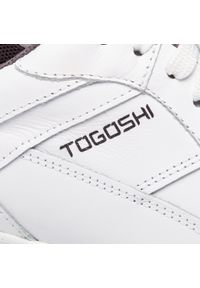 Białe półbuty Togoshi z cholewką, na co dzień, casualowe