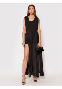 Rinascimento Sukienka wieczorowa CFC0103699003 Czarny Regular Fit. Kolor: czarny. Styl: wizytowy