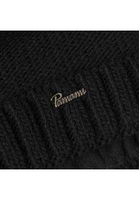 Czarna czapka zimowa PaMaMi