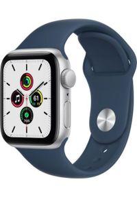 APPLE - Smartwatch Apple Watch SE GPS 40mm Silver Alu Black Sport Niebieski (MKNY3WB/A). Rodzaj zegarka: smartwatch. Kolor: niebieski. Styl: sportowy