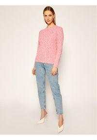 Różowy sweter klasyczny Polo Ralph Lauren polo