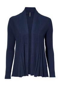 Freequent Sweter Claudisse granatowy female niebieski XL (44). Kolor: niebieski. Materiał: prążkowany, dzianina. Długość: krótkie