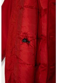 Czerwona kurtka Guess na co dzień, z kapturem, casualowa