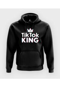 MegaKoszulki - Bluza z kapturem TikTok King. Typ kołnierza: kaptur
