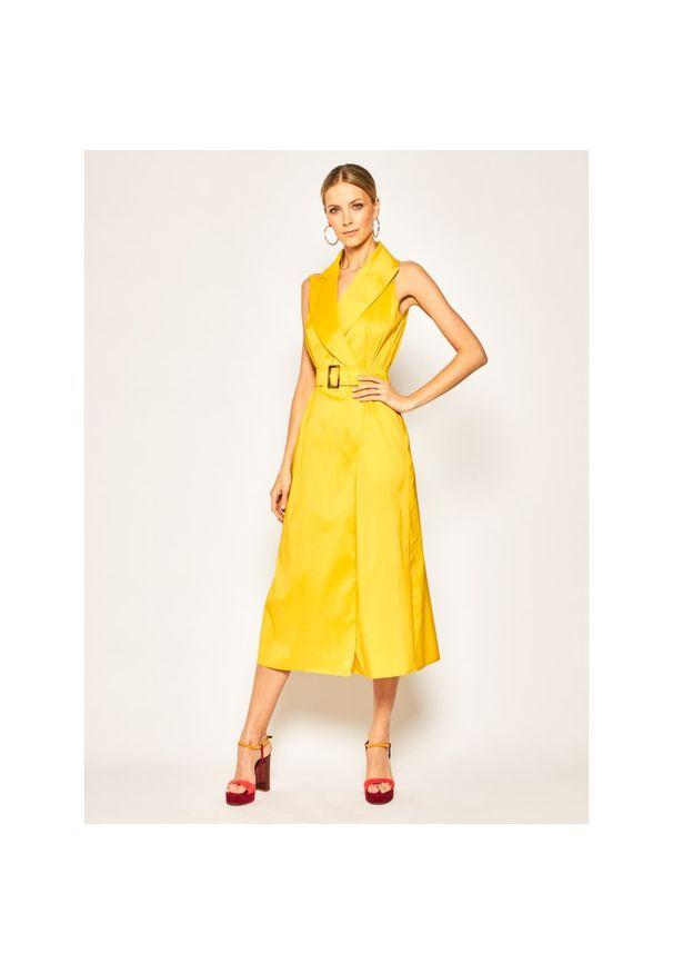 Żółta sukienka Luisa Spagnoli na co dzień, casualowa, prosta