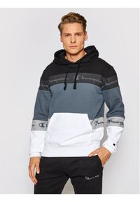 Champion Bluza Ombre Stripe Terry 215946 Czarny Comfort Fit. Kolor: czarny