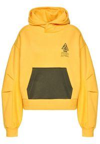 Vans Bluza Wm 66 Supply VN0A4SD2 Żółty Oversize. Kolor: żółty