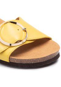 Żółte klapki Scholl
