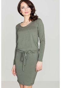 Zielona sukienka Katrus midi