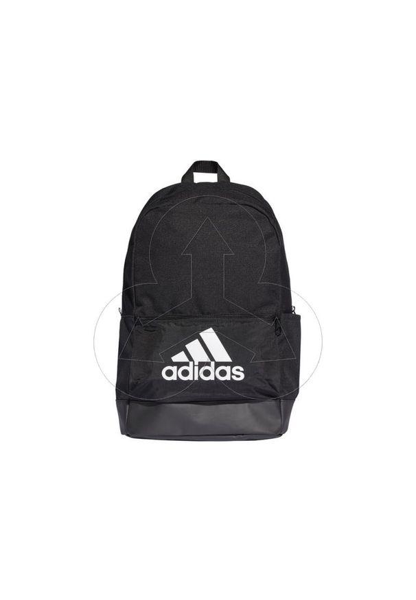 Czarny plecak Adidas w kolorowe wzory, sportowy